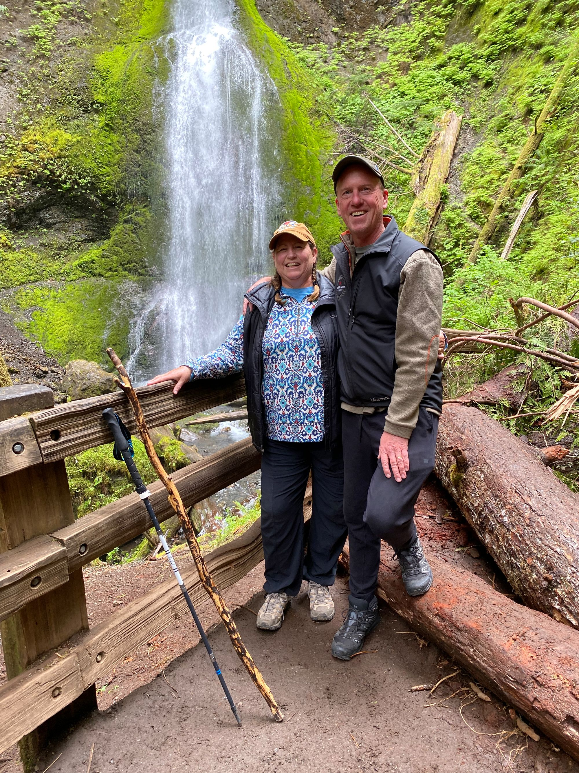 Marymere Falls 2021 — Good luck to the young couple that took our picture!